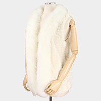 Faux Fur Collar Vest