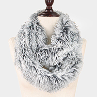 Faux Fur Furry Infinity Scarf