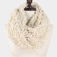 Faux Fur Twisted Infinity Scarf