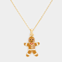 Ginger Cookie Pendant Necklace