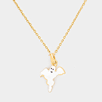 Ghost Pendant Necklace
