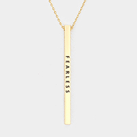 Fearless Metal Bar Pendant Necklace