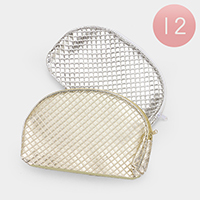 12 PCS - Plaid Rounded Zip Pouches