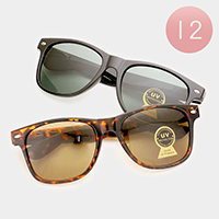 12 PCS - Oversized Classic Sunglasses