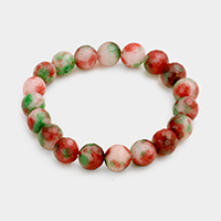 Marbling Beaded Stretch Bracelet
