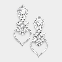 Marquise Glass Crystal Evening Earrings