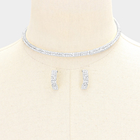 2Lines Mini Rhinestone Pave Choker Necklace