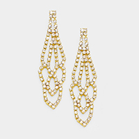 Pave Rhinestone Crystal Marquise Earrings