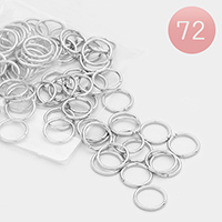 72 PCS - 13mm Gauge Open Jump Rings