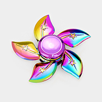 Rainbow Flower Star Metal Casting Fidget Spinner