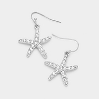 Crystal Rhinestone Starfish Earrings