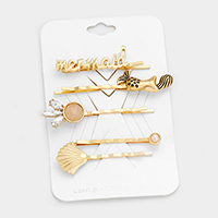 5 PCS - Mermaid Shell Bobby Pin