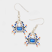 Metal Enamel Crap Earrings