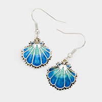 Metal Enamel Shell Earrings