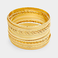 15PCS - Layered Multi Metal Bangle Bracelets