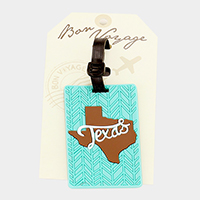 Texas Bon Voyage Rubber Luggage Tag