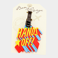 Hands Off! Bon Voyage Rubber Luggage Tag
