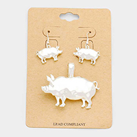 Pig Magnetic Pendant Set