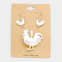 Rooster Magnetic Pendant Set
