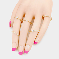 5 PCS - Twisted Multi Metal Rings