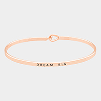 Dream Big Thin Metal Hook Bracelet