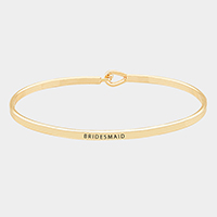 Bridesmaid Thin Metal Hook Bracelet