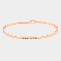 Maid of Honor Thin Metal Hook Bracelet