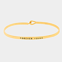 Forever Young Thin Metal Hook Bracelet