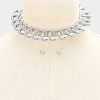 Twisted Cord Choker Necklace