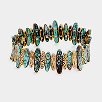 Patterned Metal Stretch Bracelet