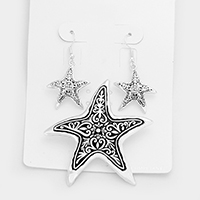 Embossed Starfish Magnetic Pendant Set