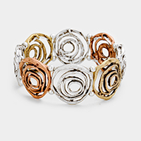 Swirl Metal Stretch Bracelet