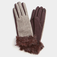Thermal Rabbit Fur Touch Cloves