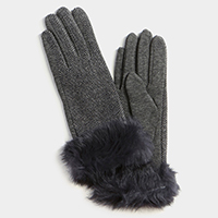 Thermal Rabbit Fur Touch Gloves