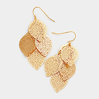Filigree Leaf Metal Earrings