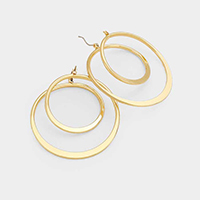 Swirl Metal Pin Catch Earrings