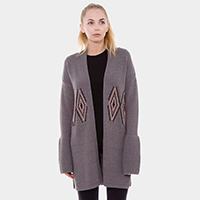 Wool Feel Long Cardigan