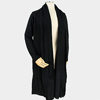 Solid Soft Knit Long Cardigan