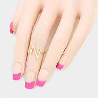 Zigzag Metal Mid Ring