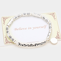 Believe in yourself Embossed Metal Stretch Bracelet