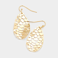 Filigree Teardrop Metal Earrings