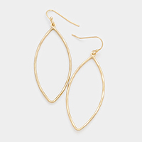 Oval Metal Dangle Earrings