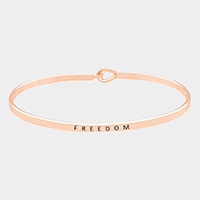 Freedom Thin Metal Hook Bracelet
