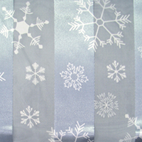 Silk Feel Striped Snowflake Print Scarf