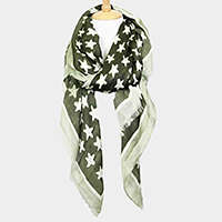 Star Print Oblong Scarf