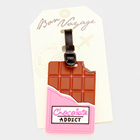 Chocolate Addict Bon Voyage Rubber Luggage Tag