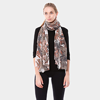 Circle Paint Oblong Scarf