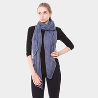 Very Soft Plaid Oblong Scarf