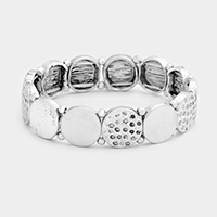 Round Metal Stretch Bracelet
