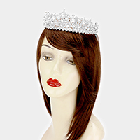 Crystal Rhinestone Bubble Pageant Queen Tiara